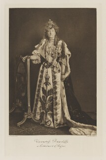 Grace Augusta Denison (née Fane), Countess of Londesborough when Viscountess Raincliffe as Catherine II of Russia, by John Thomson, photogravure by  Walker & Boutall - NPG Ax41255