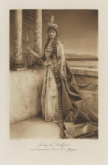 Violet Alice Maud (née Franklin), Lady de Trafford as Semiramis, Queen of Assyria, by Henry Bullingham, photogravure by  Walker & Boutall - NPG Ax41261