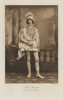 Lloyd Tyrell-Kenyon, 4th Baron Kenyon as Guido Cavalcanti, by Walery, photogravure by  Walker & Boutall - NPG Ax41263
