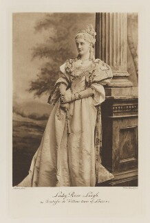 Rose Pepys (née Nevill), Countess of Cottenham as Duchesse de Villars from the time of Louis XV, by Lafayette, photogravure by  Walker & Boutall - NPG Ax41264