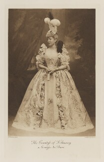 Ellen Constance ('Nellie') Needham (née Baldock), Countess of Kilmorey as Comtesse du Barri, by John Thomson, photogravure by  Walker & Boutall, 1897; published 1899 - NPG Ax41267 - © National Portrait Gallery, London