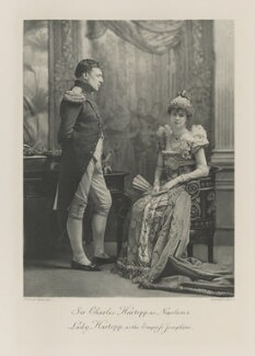 Sir Charles Edward Cradock-Hartopp, 5th Bt as Napoleon I; Millicent Florence Eleanor (née Wilson), Lady Cradock-Hartopp (later Countess Cowley and Mrs Duberly) as the Empress Josephine, by Henry Van der Weyde, photogravure by  Walker & Boutall - NPG Ax41270