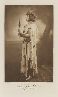 Lady Helena Gleichen (Countess Helena Emily Gleichen) as Joan of Arc, by Henry Bullingham, photogravure by  Walker & Boutall - NPG Ax41271