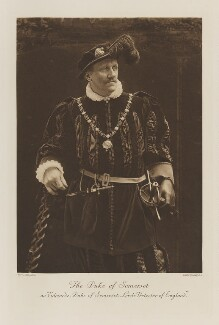 Algernon St Maur, 15th Duke of Somerset as Edward, Duke of Somerset, Lord Protector of England, by Byrne & Co, photogravure by  Walker & Boutall - NPG Ax41277