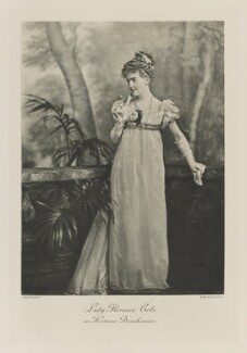 Florence Anne (née Cole), Lady Delamere as Hortense Beauharnais, by Lafayette, photogravure by  Walker & Boutall - NPG Ax41281