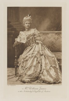 Evelyn Elizabeth Brinton (née Forbes) as the Archduchess Elisabeth of Austria, by Alice Hughes, photogravure by  Walker & Boutall - NPG Ax41282