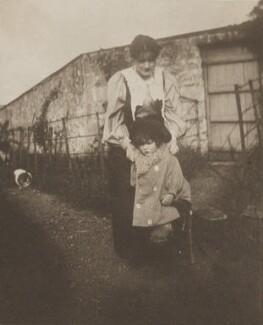 Sylvia Jocelyn Llewelyn Davies (née Du Maurier); George Llewelyn Davies, by Unknown photographer - NPG Ax45604
