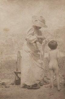 Sylvia Jocelyn Llewelyn Davies (née Du Maurier); Peter Llewelyn Davies, by J.M. Barrie - NPG Ax45607