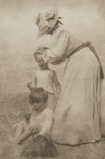 Sylvia Jocelyn Llewelyn Davies (née Du Maurier); Jack Llewelyn Davies; Peter Llewelyn Davies, by J.M. Barrie - NPG Ax45609
