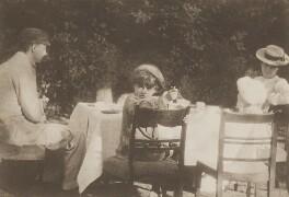 Peter Llewelyn Davies; George Llewelyn Davies; Arthur Llewelyn Davies; Sylvia Jocelyn Llewelyn Davies (née Du Maurier), by J.M. Barrie - NPG Ax45610
