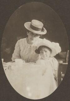 Peter Llewelyn Davies; Sylvia Jocelyn Llewelyn Davies (née Du Maurier), by J.M. Barrie - NPG Ax45613
