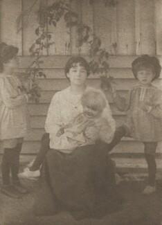 Sylvia Jocelyn Llewelyn Davies (née Du Maurier); Peter Llewelyn Davies; Jack Llewelyn Davies; George Llewelyn Davies, by J.M. Barrie - NPG Ax45616
