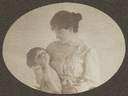 Sylvia Jocelyn Llewelyn Davies (née Du Maurier); Peter Llewelyn Davies, by J.M. Barrie - NPG Ax45620