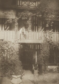 Sylvia Jocelyn Llewelyn Davies (née Du Maurier); Michael Llewelyn Davies, by J.M. Barrie - NPG Ax45625
