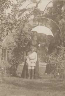 Sylvia Jocelyn Llewelyn Davies (née Du Maurier); Michael Llewelyn Davies, by J.M. Barrie - NPG Ax45640