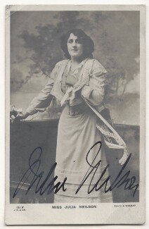 Julia Emilie Neilson, by Alfred Ellis & Walery, published by  J. Beagles & Co - NPG Ax45835