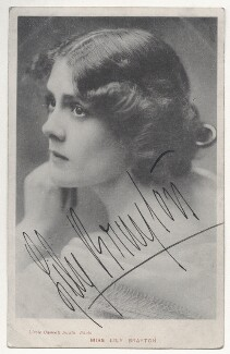 Lily Brayton, by Lizzie Caswall Smith, published by  Davidson Brothers - NPG Ax45836