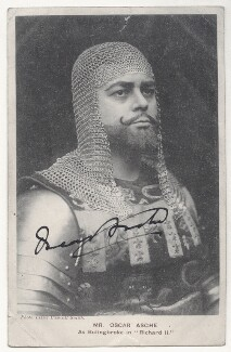Oscar Asche as Bolingbroke in 'Richard II', by Lizzie Caswall Smith, published by  Davidson Brothers - NPG Ax45837