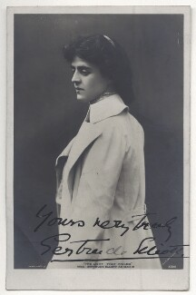 Gertrude Elliott as Maisie in 'The Light That Failed', by Lizzie Caswall Smith, published by  Rotary Photographic Co Ltd, 1903 - NPG Ax45840 - © National Portrait Gallery, London