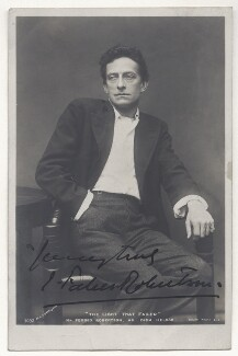 Sir Johnston Forbes-Robertson as Dick Heldar in 'The Light that Failed', by Lizzie Caswall Smith, published by  Rotary Photographic Co Ltd - NPG Ax45841