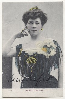 Marie Tempest, by Lallie Charles (née Charlotte Elizabeth Martin), 1900s - NPG Ax45848 - © National Portrait Gallery, London