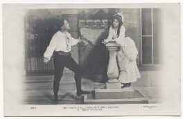 Denis O'Sullivan as Harry Trevor; Marie Dainton as The Lady Margaret O'Driscoll ('Peggy') in 'Peggy Machree', by Frank William Burford - NPG Ax45906