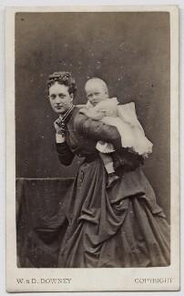 Queen Alexandra; Princess Louise, Duchess of Fife, by W. & D. Downey, September 1868 - NPG Ax46173 - © National Portrait Gallery, London