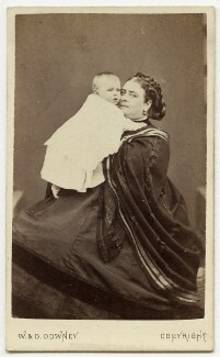 Prince Francis of Teck; Princess Mary Adelaide, Duchess of Teck, by W. & D. Downey - NPG Ax46184