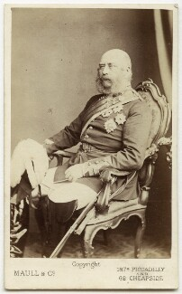 Prince George William Frederick Charles, 2nd Duke of Cambridge, by Maull & Co, late 1860s-early 1870s - NPG Ax46186 - © National Portrait Gallery, London