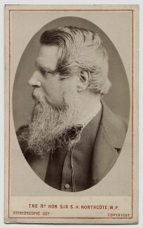 Sir Stafford Henry Northcote, 1st Earl of Iddesleigh, by London Stereoscopic & Photographic Company, circa 1873 - NPG Ax46197 - © National Portrait Gallery, London