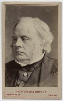 John Bright, by London Stereoscopic & Photographic Company - NPG Ax46205