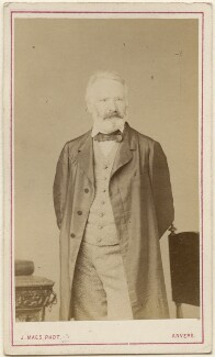 Victor Hugo, by Joseph Maes - NPG Ax46274