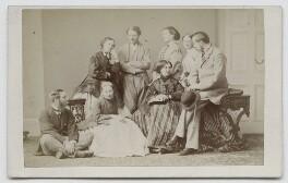 Family group including Hon. Georgina Louisa Mostyn, by Thomas Rodger - NPG Ax46295