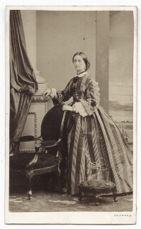 Emily Charlotte Fitzherbert (née Stafford-Jerningham), by William Henry Southwell, 1861 - NPG Ax46812 - © National Portrait Gallery, London