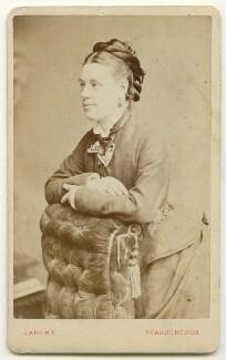 Gertrude Mary Errington (née Riddell, later Langley), by Oliver François Xavier Sarony - NPG Ax46985
