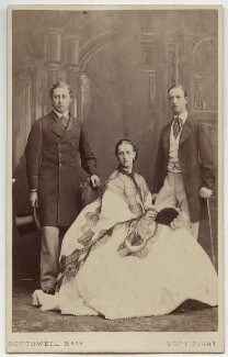 King Edward VII; Queen Alexandra; George I, King of Greece, by Southwell Brothers, October 1863 - NPG  - © National Portrait Gallery, London