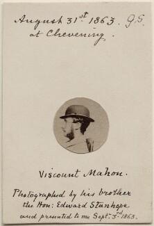 Arthur Philip Stanhope, 6th Earl Stanhope when Viscount Mahon, by Hon. Edward Stanhope - NPG Ax47094