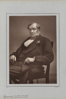 Sir Daniel Gooch, 1st Bt, by Herbert Rose Barraud, published by  Richard Bentley & Son, published 1888 - NPG Ax5429 - © National Portrait Gallery, London