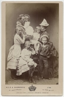 Frederick III, Emperor of Germany and King of Prussia with his family, by Hills & Saunders, 1874 - NPG Ax5561 - © National Portrait Gallery, London