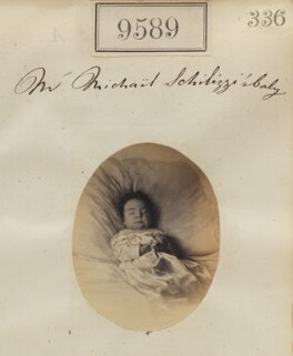 'Mr Michael Schilizzi's baby', by Camille Silvy - NPG Ax59345