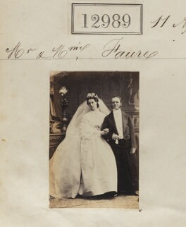 Mrs Joseph Faure; Joseph Faure, by Camille Silvy - NPG Ax62630