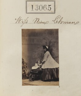 Nina Lehmann with an unknown woman, by Camille Silvy - NPG Ax62706