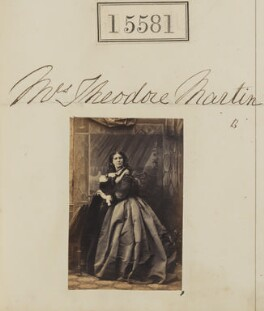 Helen Faucit (Helena (née Faucit Saville), Lady Martin), by Camille Silvy - NPG Ax63513