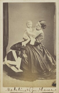 Madeline Caroline Frances Eden Wyndham (née Campbell); Guy Percy Wyndham, by Unknown photographer - NPG Ax68080