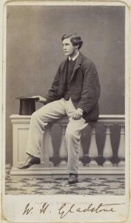 William Henry Gladstone, by Fratelli Alinari - NPG Ax68085