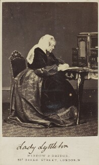Sarah Lyttelton (née Spencer), Lady Lyttelton, by Window & Bridge - NPG Ax68110