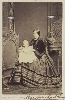 Mary Cornelia (née Edwards), Marchioness of Londonderry with a baby, by Southwell Brothers - NPG Ax68114