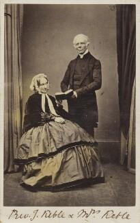 Charlotte Keble (née Clarke); John Keble, by Robert Hawker Peniel Preston - NPG Ax68126