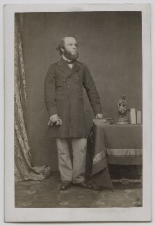 Richard Grenville, 3rd Duke of Buckingham and Chandos, by John & Charles Watkins, 1860s - NPG Ax7416 - © National Portrait Gallery, London
