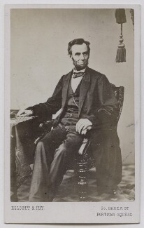 Abraham Lincoln, by Elliott & Fry, after  Alexander Gardner - NPG Ax7578